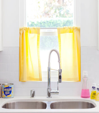 How To Make Dyed Kitchen Café Curtains