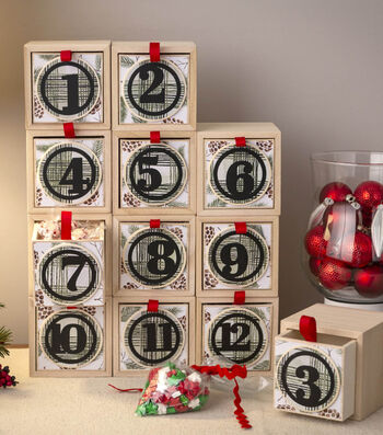 How To Make a Stacking Boxes Advent Calendar