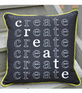 Square By Design Pillow with Contrasting Piping