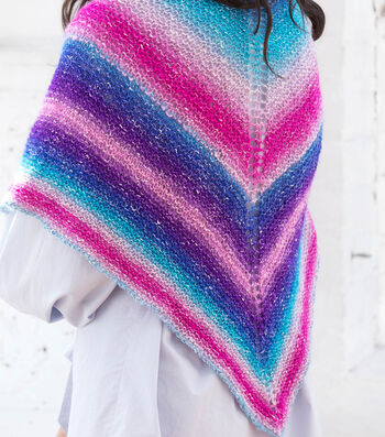 How To Make A Lion Brand Shawl In A Ball Beautiful Basic Shawl