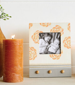 How To Make a Floral Wood Frame