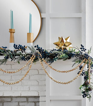 How To Make A Holiday Berry & Wood Bead Garlands