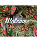 Welcome Wreath With Ribbon