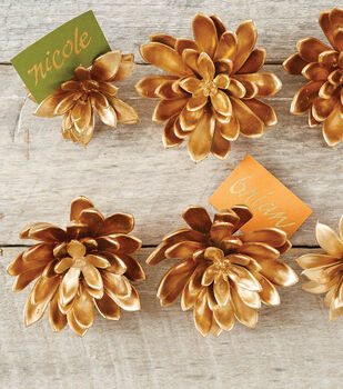 Gold Succulent Name Cards