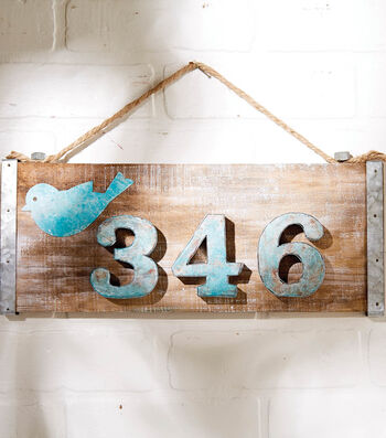 Make A Distressed House Number Plaque
