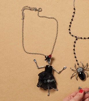 Diy necklace ideas jewelry making projects joann how to make a dia de los muertos necklace aloadofball Choice Image