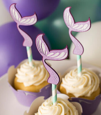 How To Make Mermaid Craft Party Cupcake Topper & Wrapper