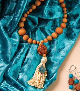 How To Make a Beaded Buddah Tassel Necklace