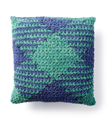 How To Make A Bernat Blanket Color Pooling Pillow