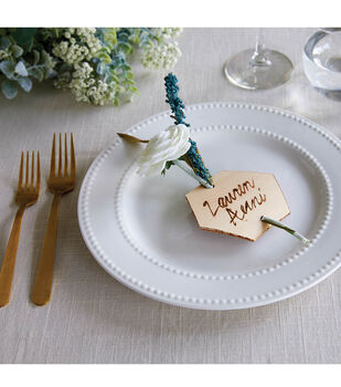 How To Make a Hexagon Wood Place Setting