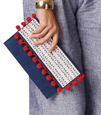 How To Make Denim Clutch with Embellished Flap