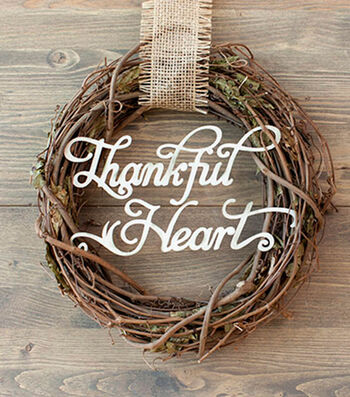 How To Make A Thankful Heart Wreath