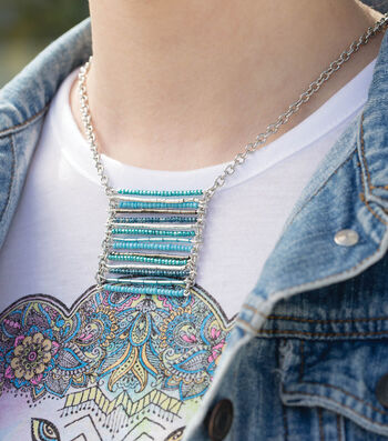 Make A Turquoise Ladder Necklace