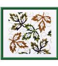 Falling Leaves Cross Stitch Design