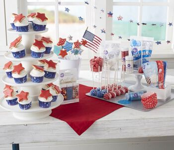 Patriotic Cupcakes, Cookies and Cake Pops
