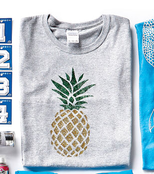 How To Make A Shimmer Pineapple T-Shirt