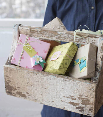 How To Make Personalized Stamped Gift Wrap