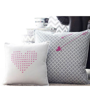 Cross-Stitch Inspired Valentine's Day Pillow Covers