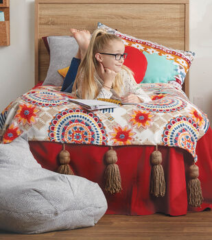 How To Make A 58 X 70 Fleece Throw With Big Tassels