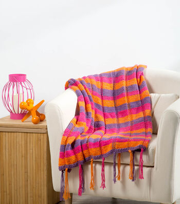 Knit A Plaid Baby Blanket