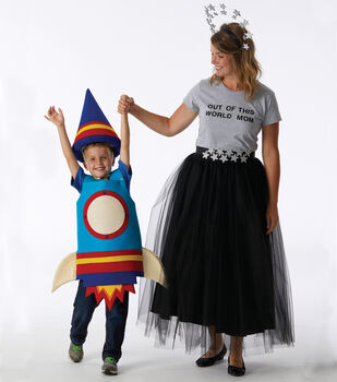 How To Make A Space Mom and Child Costume