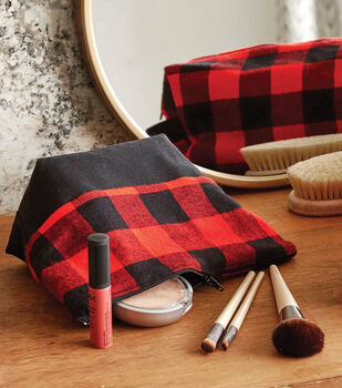How To Make a Plaid Cosmetic Bag