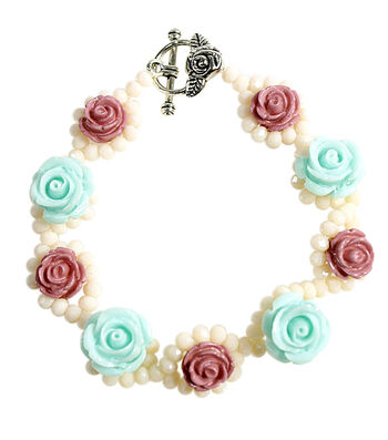 Pastel Roses and Cream Bracelet