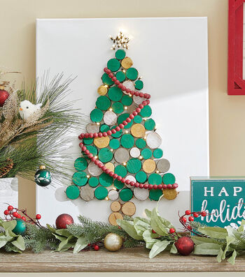 How To Make a Wood Disc Christmas Tree