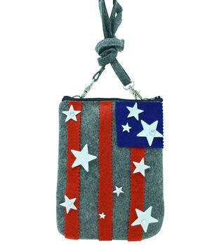 How To Make a No Sew Flag Purse