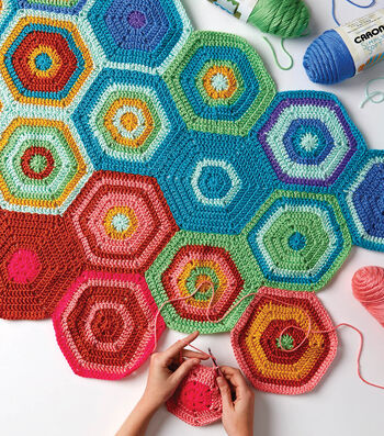 How To Make a One a Day Crochet Hexagon Temperature Blanket