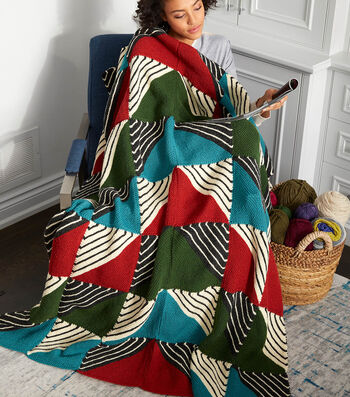 How To Make A Knit Patchwork Blanket