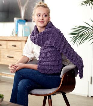 How To Make A Bernat Alize Blanket EZ Garter Ridge Scarf