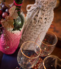 Wine Bottle Luminary and Crocheted Cozy