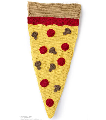 How To Make A Pizza Party Crochet Snuggle Sack