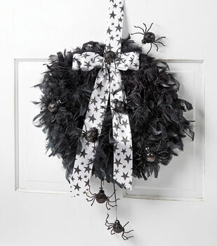 Halloween Boa Wreath