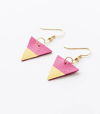Touch of Gold Triangle Earrings – Beth Kingston