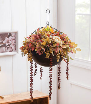 How To Make a Hanging Black Fall Planter