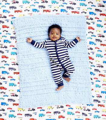 How To Make a Lion Brand Off the Hook Waverly Baby Blankie