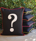 Square By Design Pillow with Piping