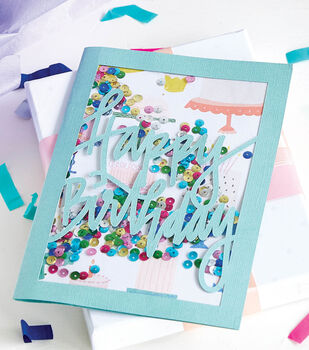 How To Make Confetti Sequin Cards
