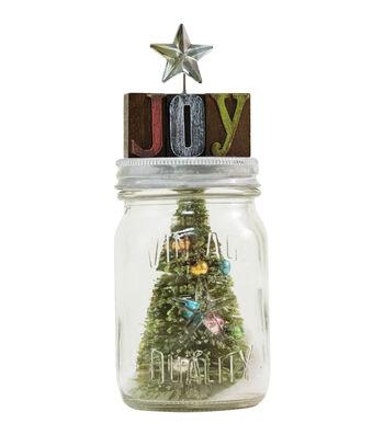 Festive Shaker Mini Mason Jar