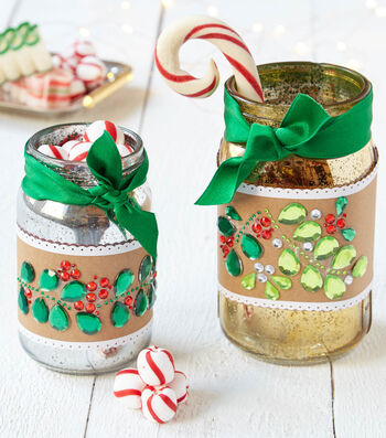 How To Make A Bling Mason Jar