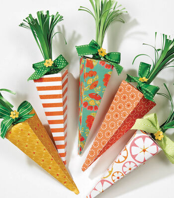 Paper Carrot Boxes