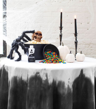 How To Make A Halloween Dip Dyed Tablecloth