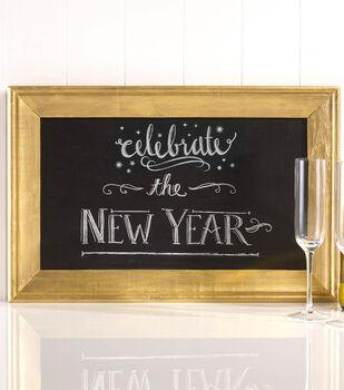 Gold Framed Holiday Chalkboard