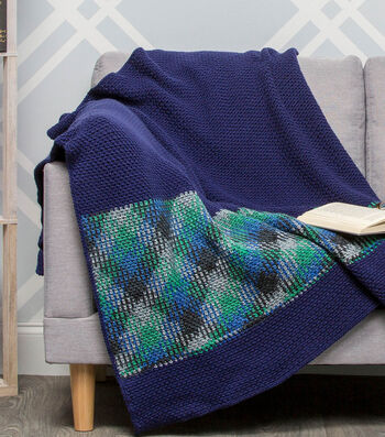 How To Make A Premier Yarns Everyday Plaid Blackwatch Throw
