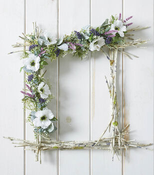 How To Make a Floral Wrapped Natural Frame
