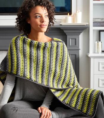 How To Make A Textured Stripes Crochet Ruana
