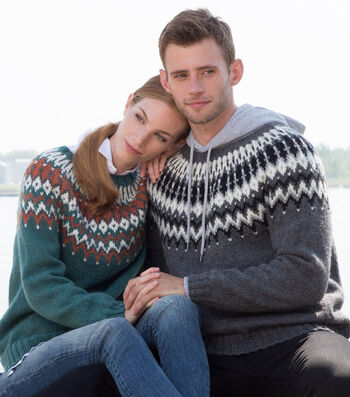How To Make His and Hers Knit Yoke Sweaters