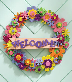 How To Make A Flower Wreath With Letters